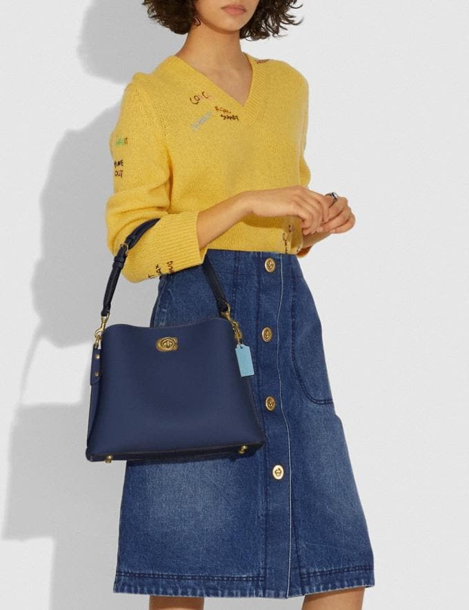 Coach Willow Shoulder Bag in Colorblock B4/Midnight Navy Multi New Women's New Arrivals Bags Alternate View 3