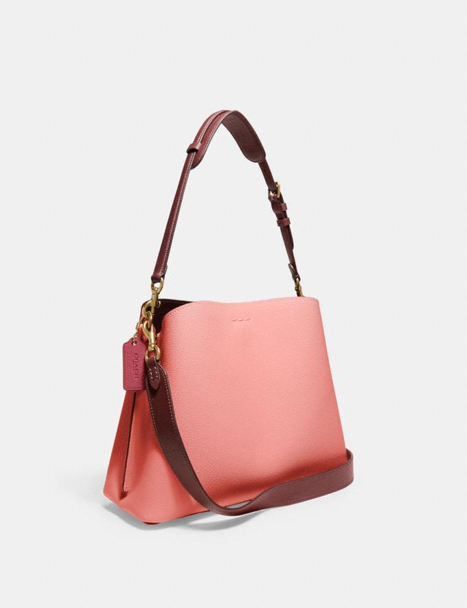Coach Willow Shoulder Bag in Colorblock Brass/Candy Pink Multi Translations 5.1 Retail Alternate View 1
