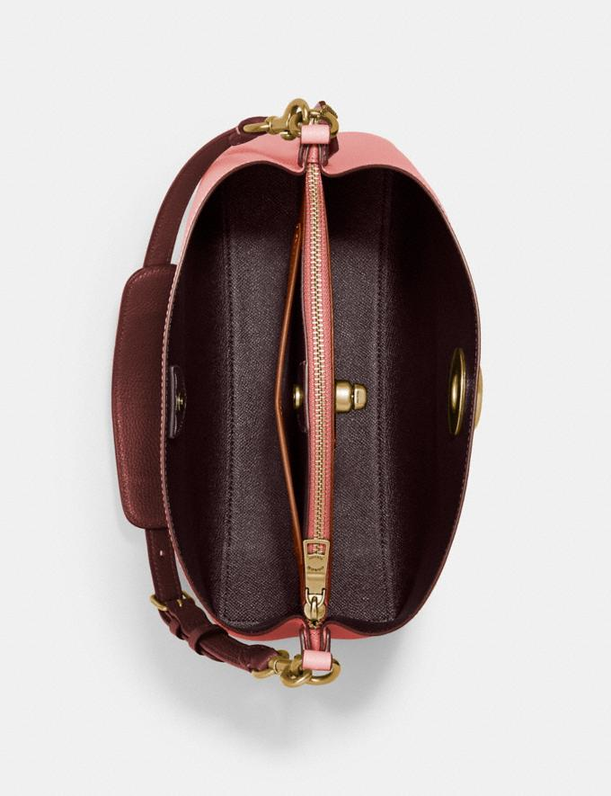 Coach Willow Shoulder Bag in Colorblock Brass/Candy Pink Multi Translations 5.1 Retail Alternate View 2