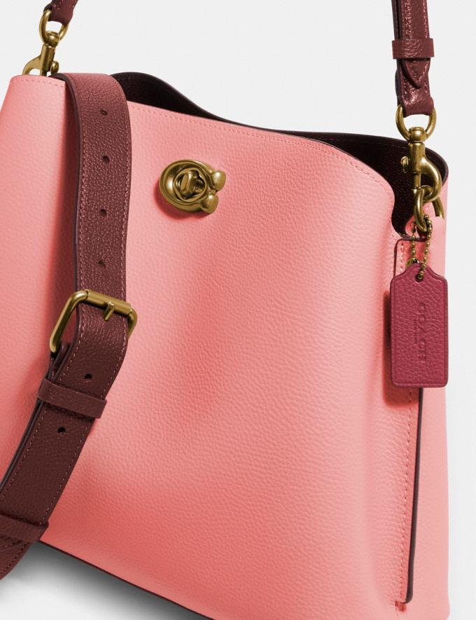 Coach Willow Shoulder Bag in Colorblock Brass/Candy Pink Multi Translations 5.1 Retail Alternate View 3