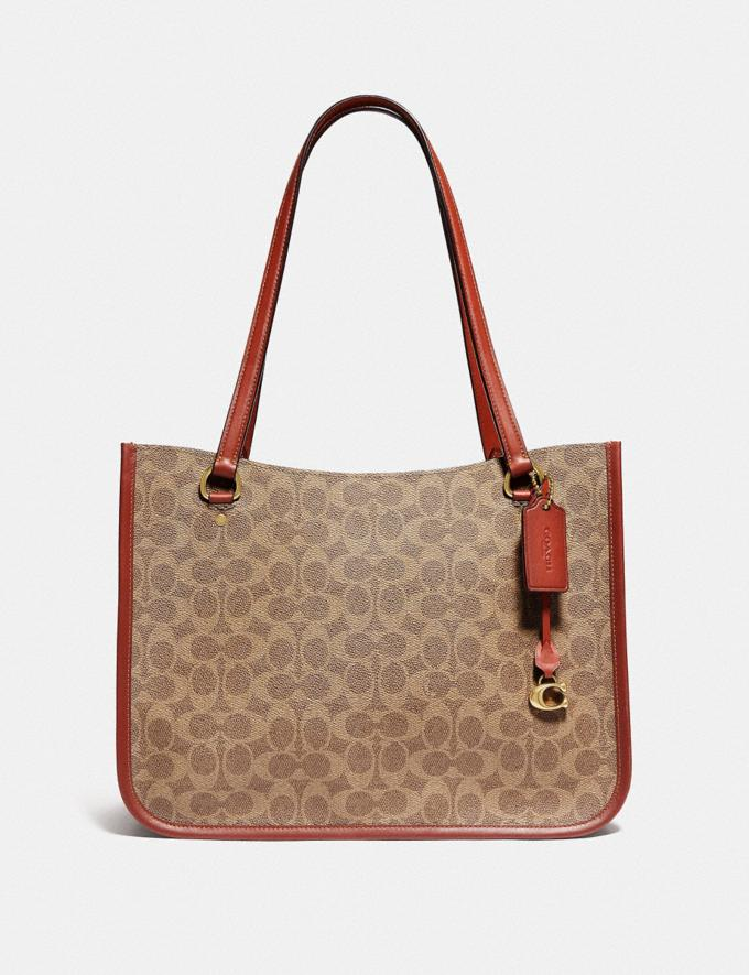 Coach Tyler Carryall in Signature Canvas Brass/Tan Rust New Women's New Arrivals Bags