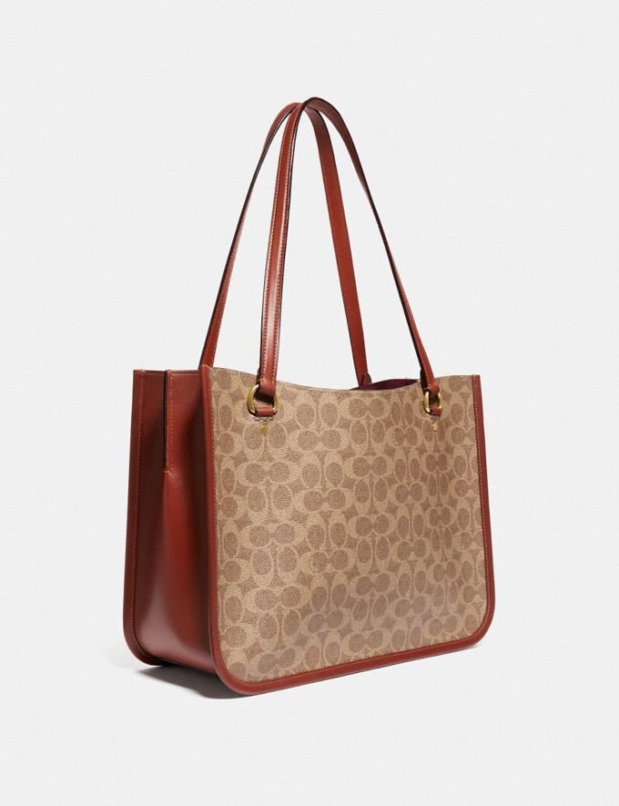 Coach Tyler Carryall in Signature Canvas Brass/Tan Rust New Women's New Arrivals Bags Alternate View 1