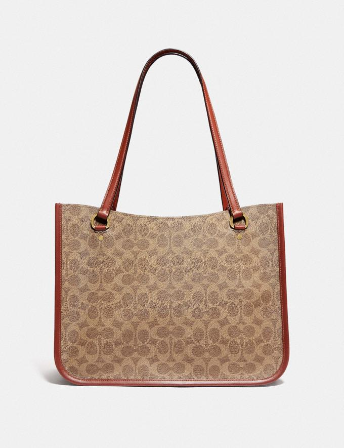 Coach Tyler Carryall in Signature Canvas Brass/Tan Rust New Women's New Arrivals Bags Alternate View 2