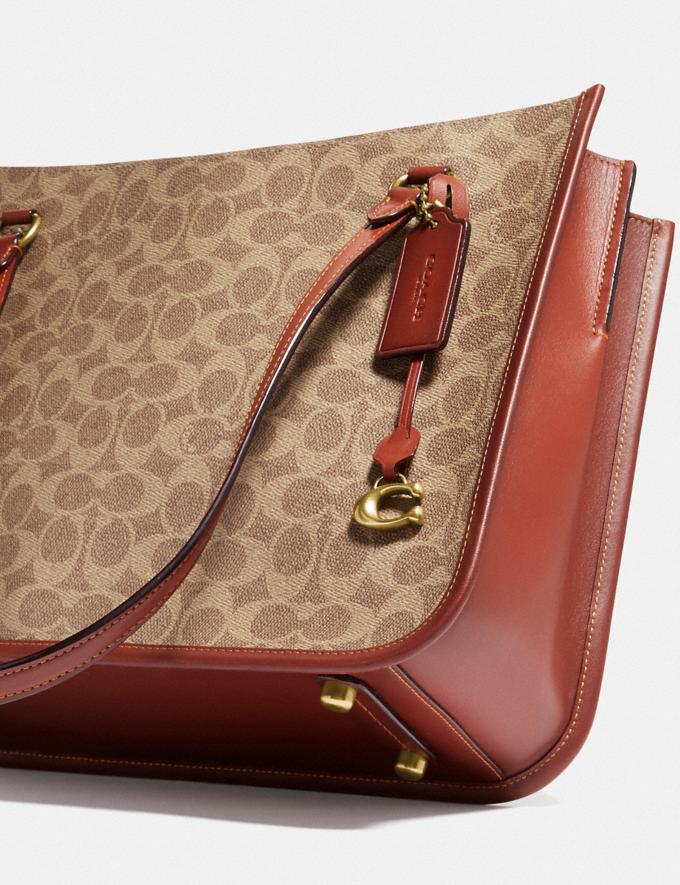 Coach Tyler Carryall in Signature Canvas Brass/Tan Rust New Women's New Arrivals Bags Alternate View 5
