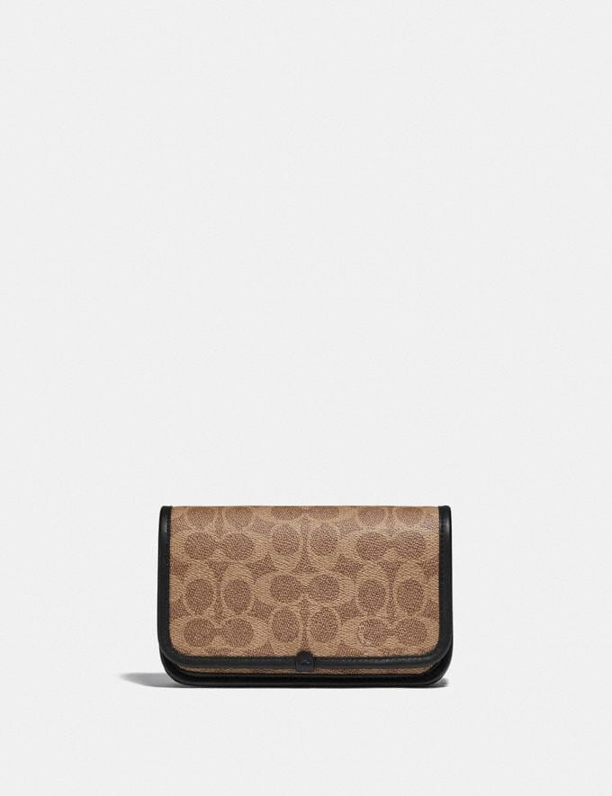 Coach Charter Phone Crossbody in Signature Canvas Tan DEFAULT_CATEGORY