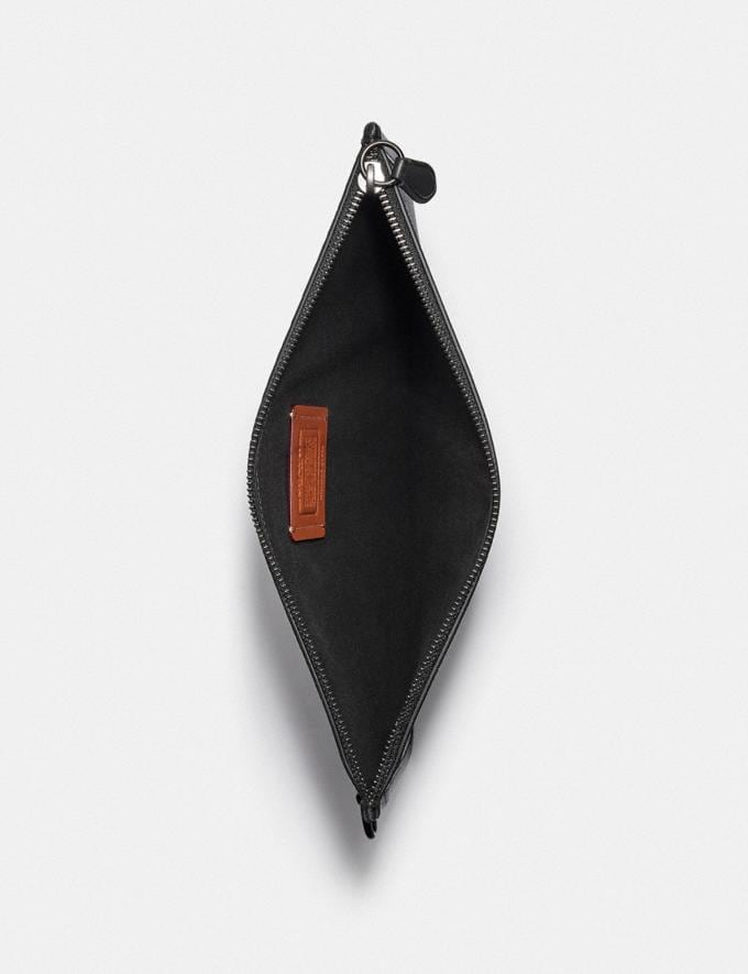Coach Charter Pouch in Signature Canvas Charcoal DEFAULT_CATEGORY Alternate View 2