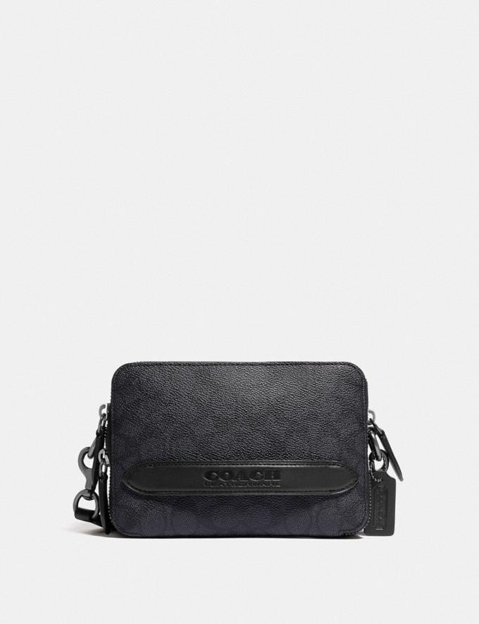 Coach Charter Crossbody in Signature Canvas Charcoal 8.1 newness