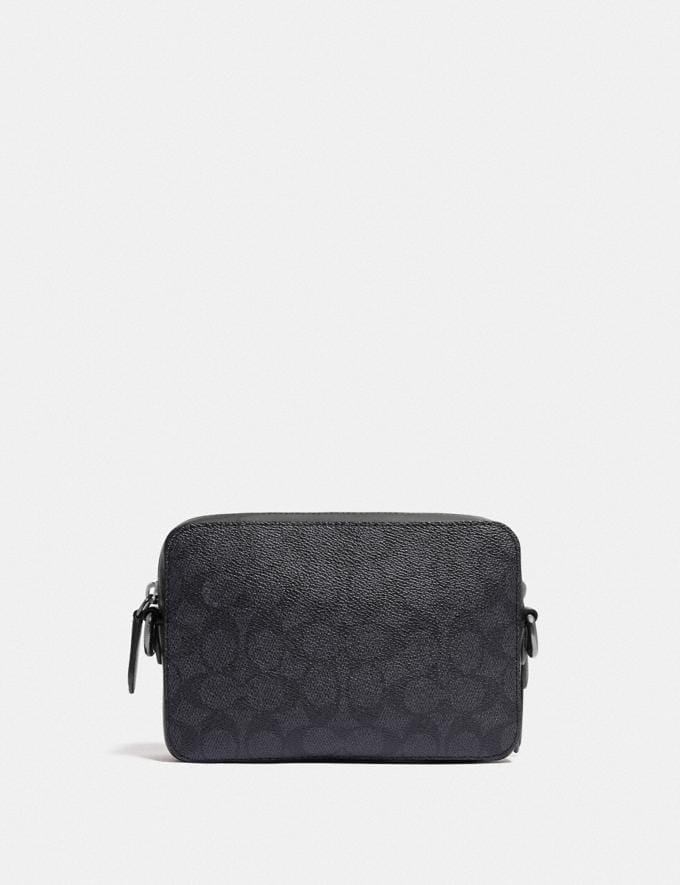 Coach Charter Crossbody in Signature Canvas Charcoal 8.1 newness Alternate View 2
