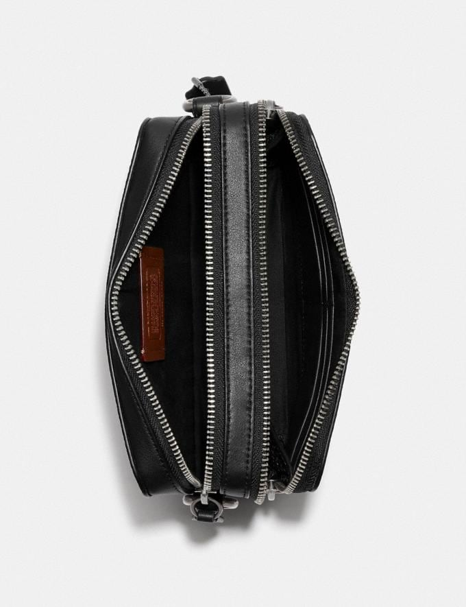 Coach Charter Crossbody in Signature Canvas Charcoal 8.1 newness Alternate View 3