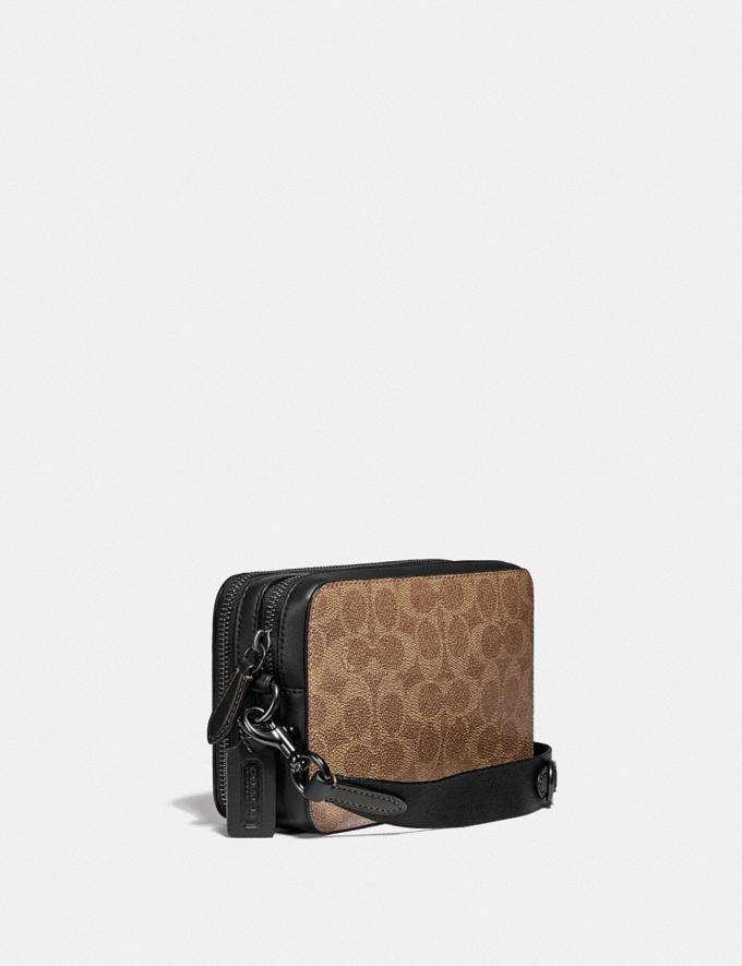 Coach Charter Crossbody in Signature Canvas Tan DEFAULT_CATEGORY Alternate View 1