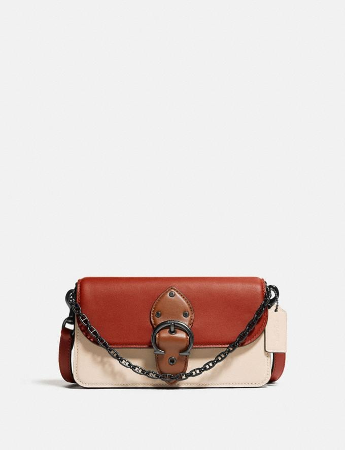 Coach Beat Crossbody Clutch in Colorblock Pewter/Red Sand Ivory Multi