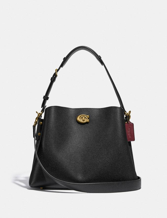 Coach Willow Shoulder Bag Brass/Black