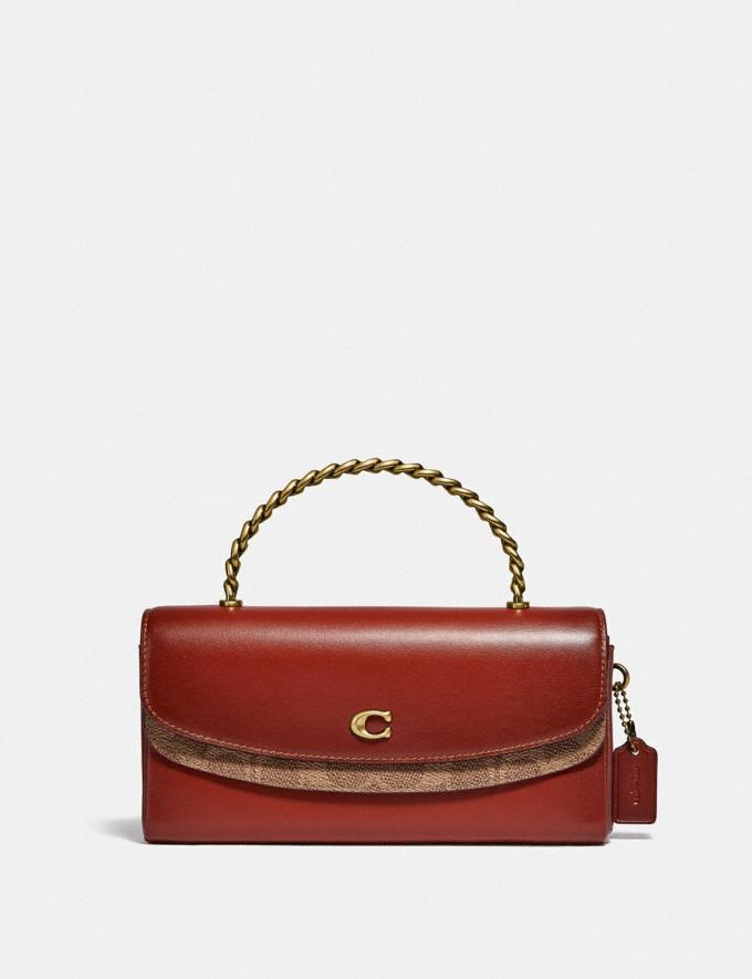 Coach Blair Clutch in Signature Canvas B4/Tan Rust Gifts For Her Under £500