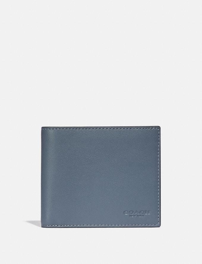 Coach 3-In-1 Wallet in Colorblock Blue Quartz/Midnight
