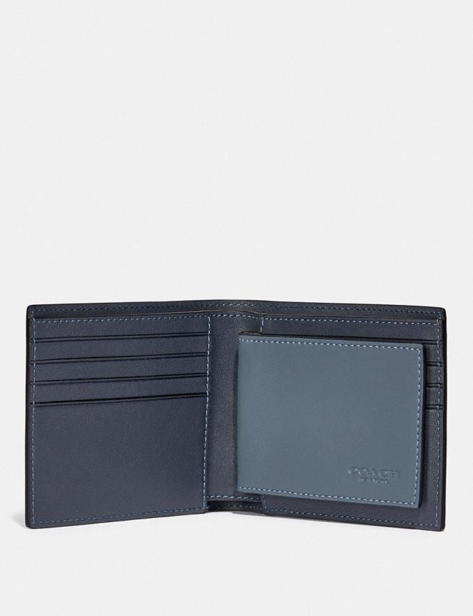 Coach 3-In-1 Wallet in Colorblock Blue Quartz/Midnight  Alternate View 2