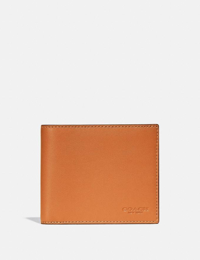 Coach 3-In-1 Wallet in Colorblock Butterscotch/Pebble New Men's New Arrivals Wallets