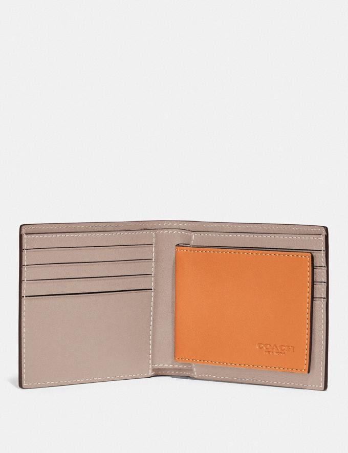 Coach 3-In-1 Wallet in Colorblock Butterscotch/Pebble New Men's New Arrivals Wallets Alternate View 1