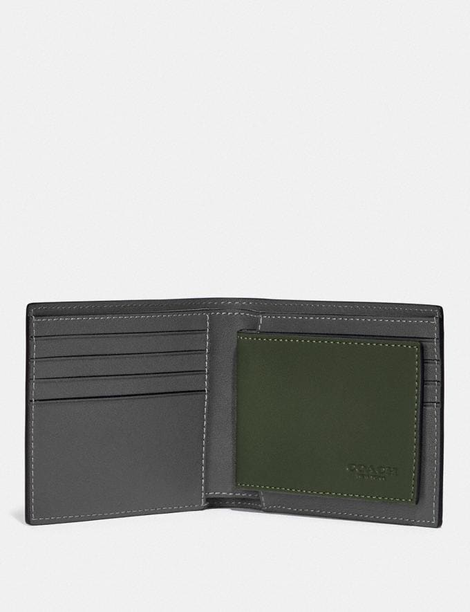 Coach 3-In-1 Wallet in Colorblock Dark Shamrock/Graphite SALE Shop by Price Under €100 Alternate View 1