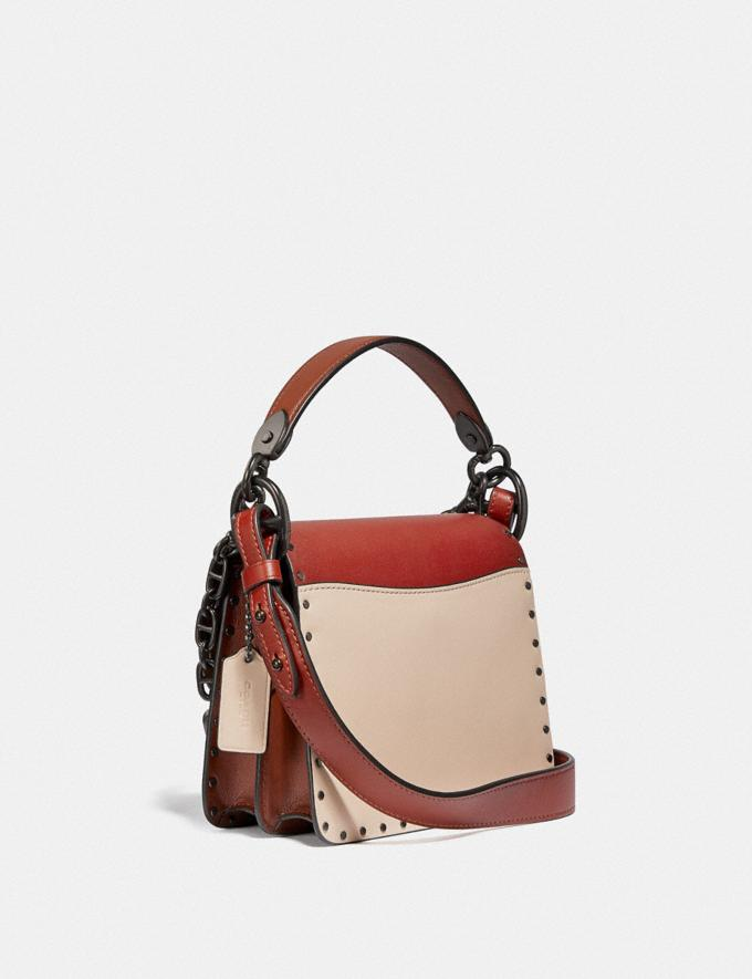Coach Beat Shoulder Bag 18 in Colorblock With Rivets Pewter/Red Sand Ivory Multi  Alternate View 1