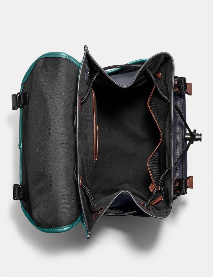 Coach League Flap Backpack in Colorblock Black Copper/Ocean Multi New Men's New Arrivals Bags Alternate View 2