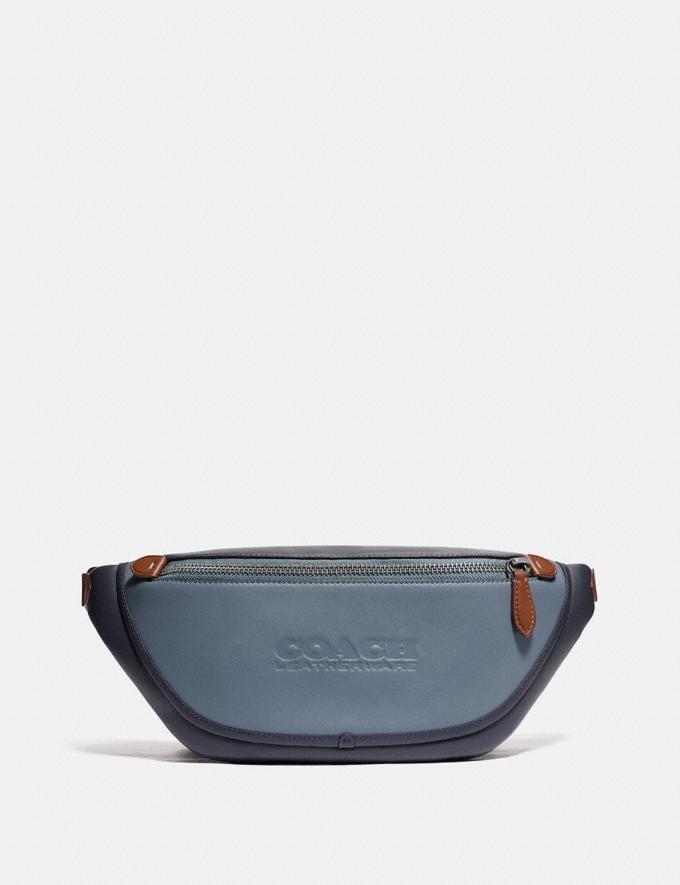 Coach League Belt Bag in Colorblock Black Copper/Blue Quartz Multi New Men's New Arrivals Bags