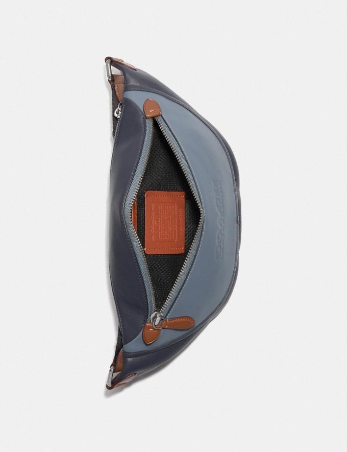 Coach League Belt Bag in Colorblock Black Copper/Blue Quartz Multi New Men's New Arrivals Bags Alternate View 3