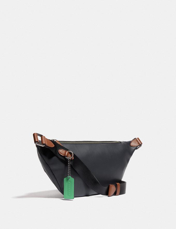Coach League Belt Bag in Colorblock Black Copper/Dark Shamrock Multi  Alternate View 1