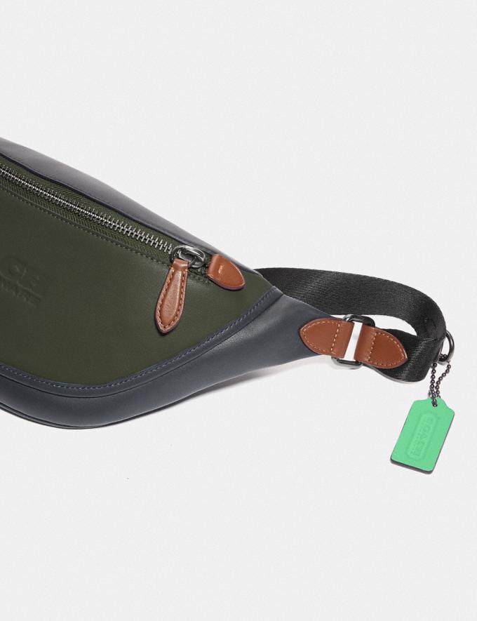 Coach League Belt Bag in Colorblock Black Copper/Dark Shamrock Multi  Alternate View 3
