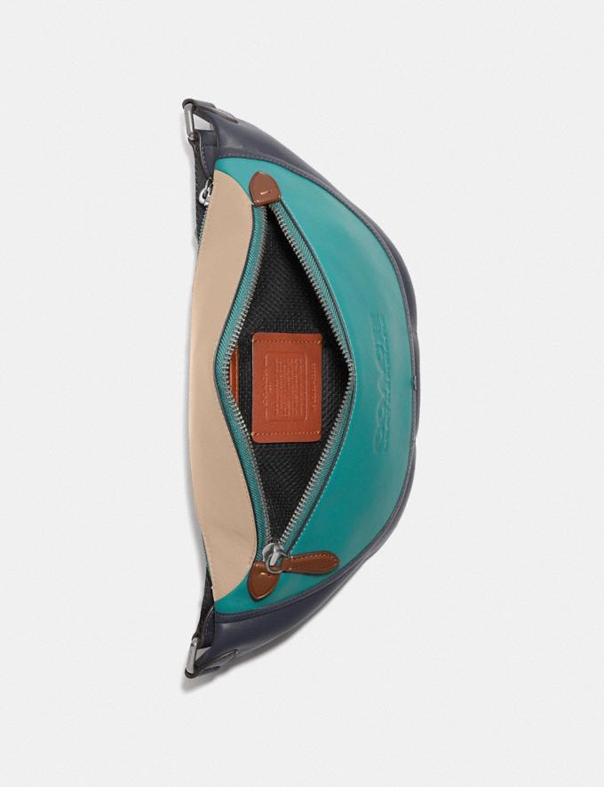Coach League Belt Bag in Colorblock Black Copper/Ocean Multi New Men's New Arrivals Bags Alternate View 2