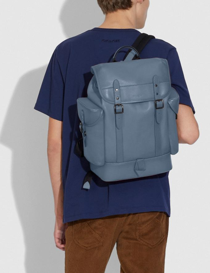 Coach Hitch Backpack Ji/Blue Quartz  Alternate View 3