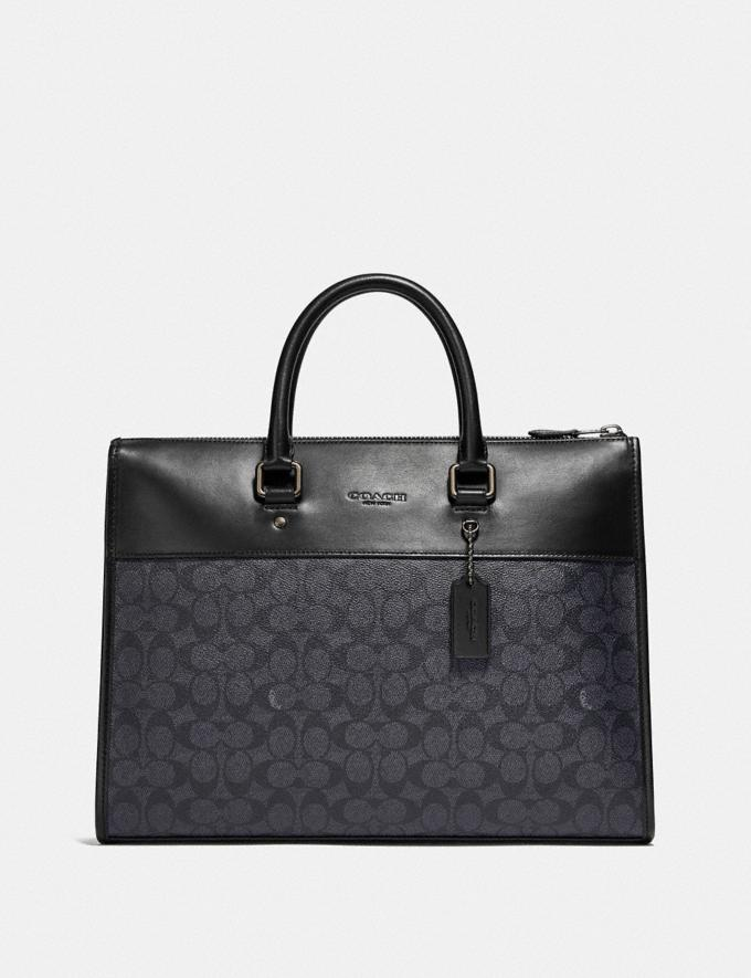 Coach Gotham Folio in Signature Canvas Ji/Charcoal Gift For Him Copy of Under €250