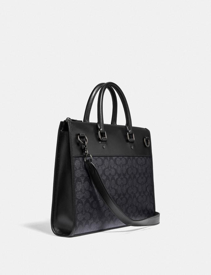 Coach Gotham Folio in Signature Canvas Ji/Charcoal Gift For Him Copy of Under €250 Alternate View 1