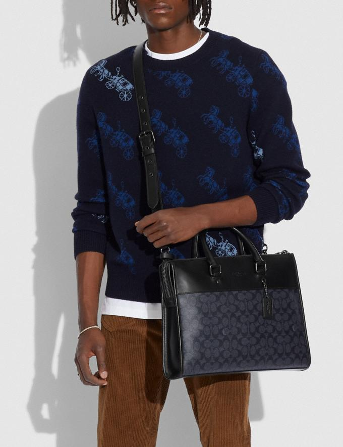 Coach Gotham Folio in Signature Canvas Ji/Charcoal Gift For Him Copy of Under €250 Alternate View 3