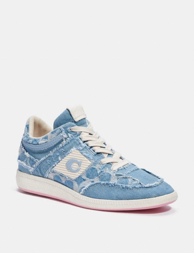 Coach Citysole Mid Top Sneaker Light Wash