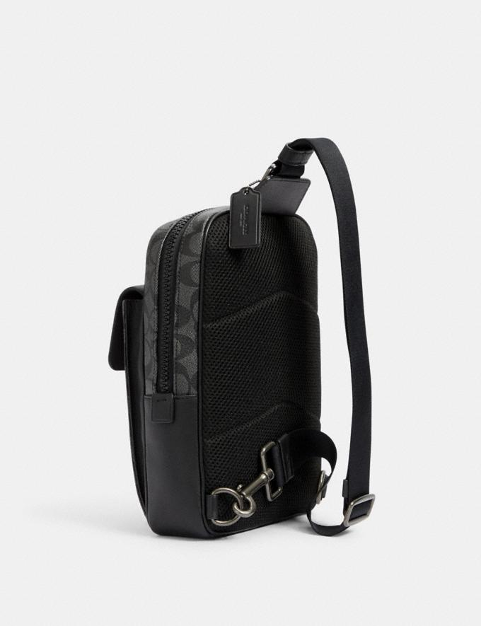 Coach Track Pack in Signature Canvas Qb/Charcoal/Black DEFAULT_CATEGORY Alternate View 1