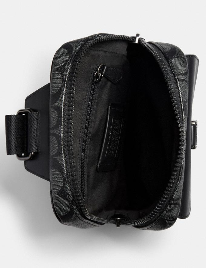Coach Track Pack in Signature Canvas Qb/Charcoal/Black DEFAULT_CATEGORY Alternate View 2