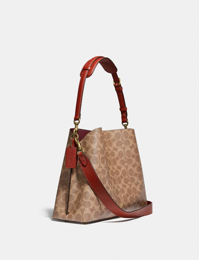 Coach Willow Shoulder Bag in Signature Canvas B4/Tan Rust Gifts For Her Under £500 Alternate View 1