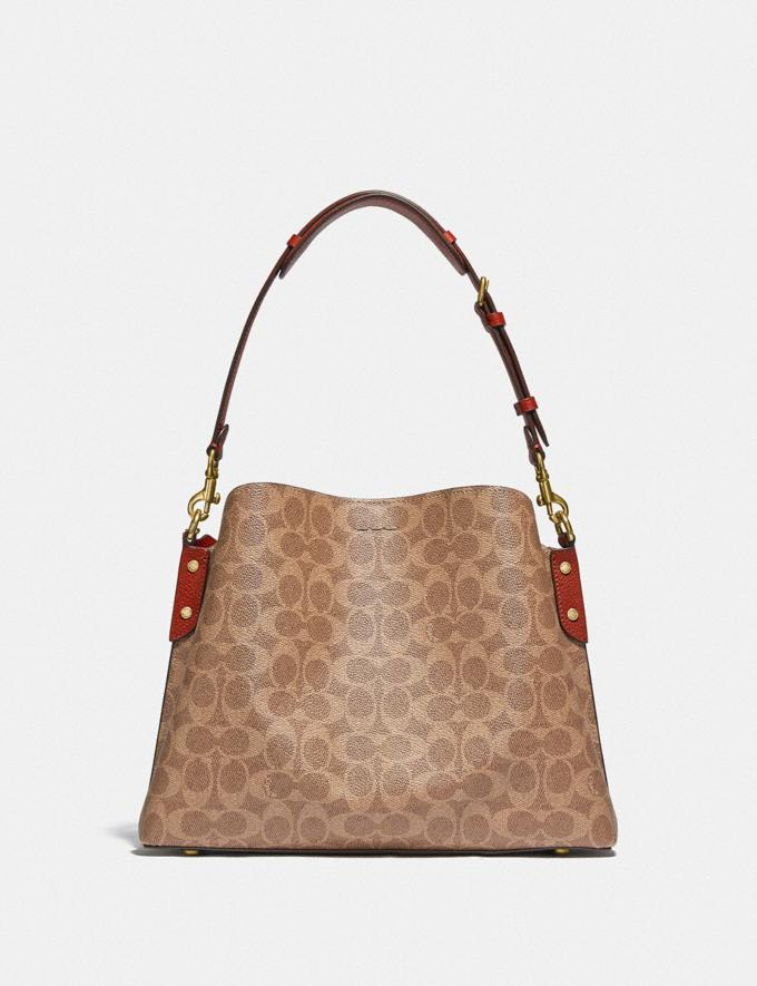 Coach Willow Shoulder Bag in Signature Canvas B4/Tan Rust Gifts For Her Under £500 Alternate View 2