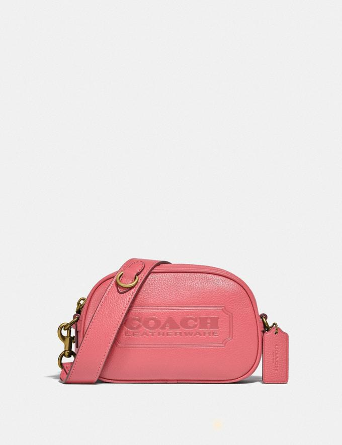 Coach Camera Crossbody With Coach Badge B4/Taffy SALE Shop by Price Under £150
