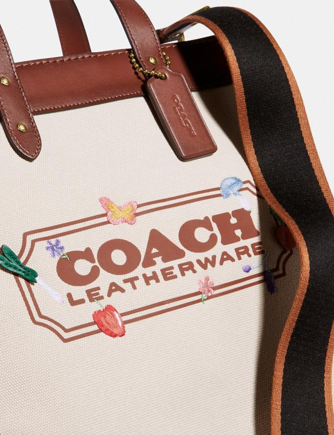 Coach Field Tote With Garden Embroidery Coach Badge B4/Natural  Alternate View 4