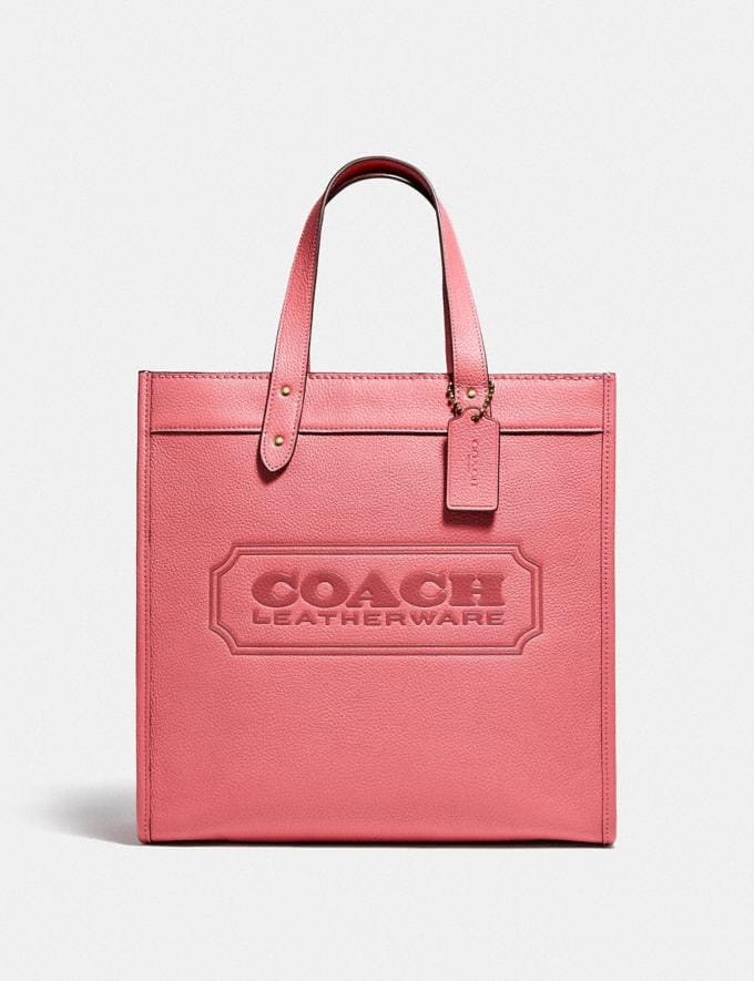 Coach Field Tote With Coach Badge B4/Taffy DEFAULT_CATEGORY