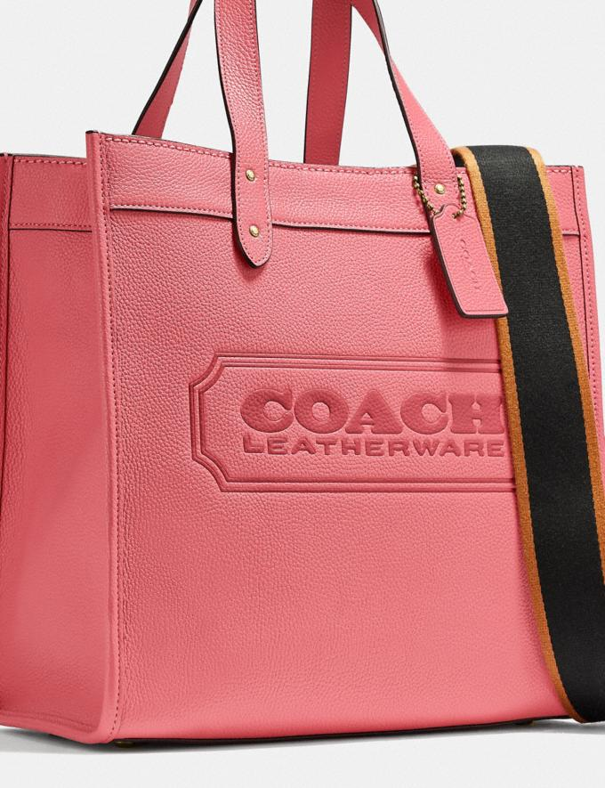 Coach Field Tote With Coach Badge B4/Taffy DEFAULT_CATEGORY Alternate View 4