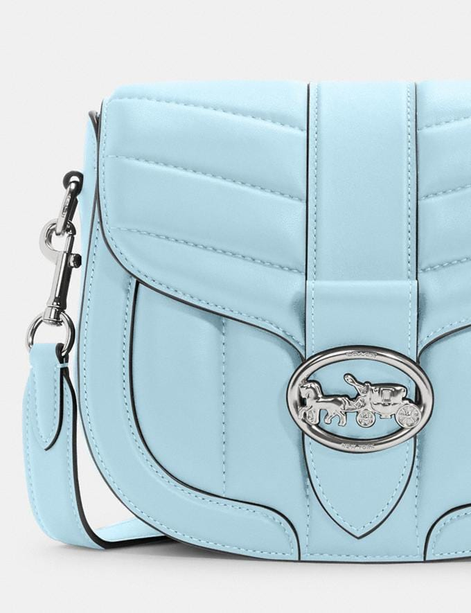 Coach Georgie Saddle Bag With Quilting Im/Chalk 9.3 Outlet sale and back in stock Alternate View 3