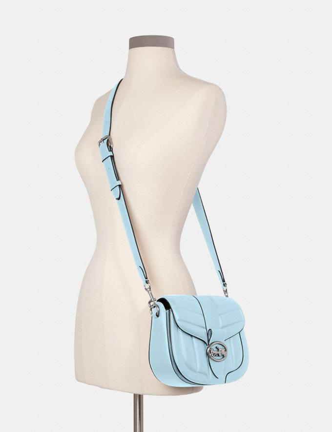 Coach Georgie Saddle Bag With Quilting Im/Chalk 9.3 Outlet sale and back in stock Alternate View 2