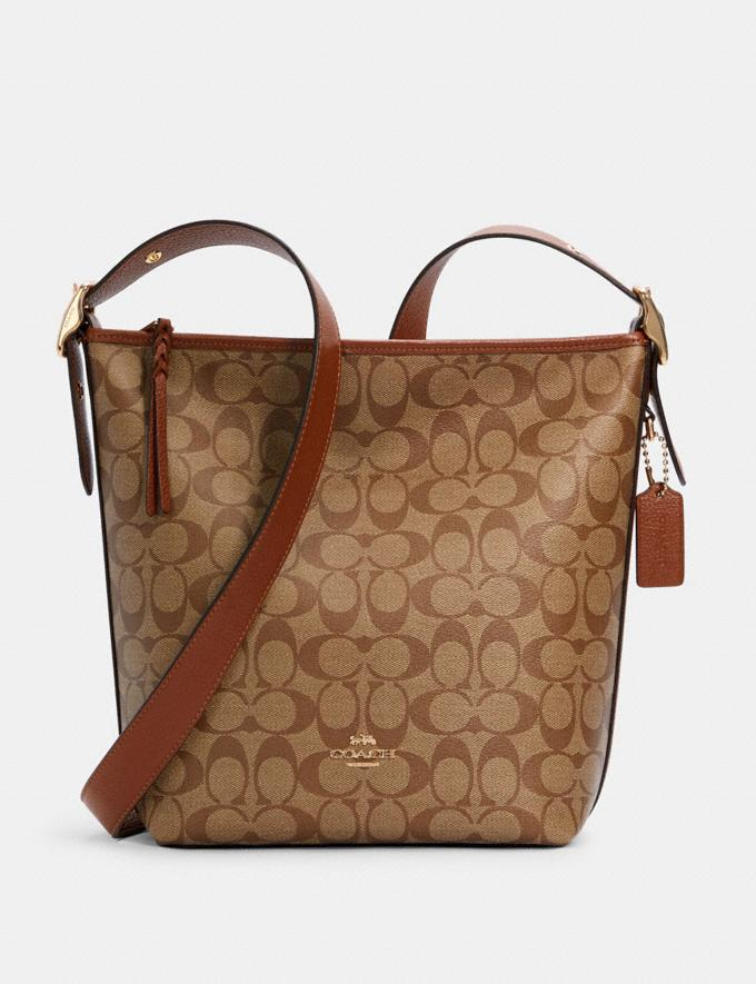 Coach Val Duffle in Signature Canvas Im/Khaki Redwood Translations 9.3 Outlet sale and back in stock