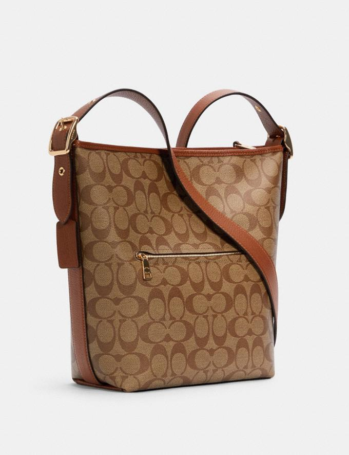 Coach Val Duffle in Signature Canvas Im/Khaki Redwood Translations 9.3 Outlet sale and back in stock Alternate View 1