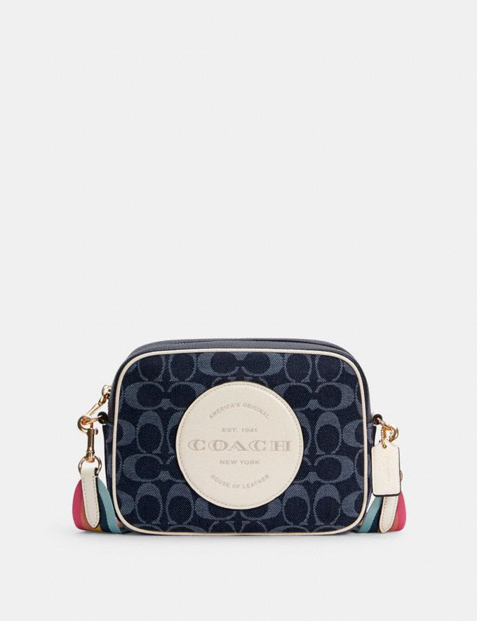 Coach Dempsey Camera Bag in Signature Jacquard With Patch Im/Denim Multi DEFAULT_CATEGORY