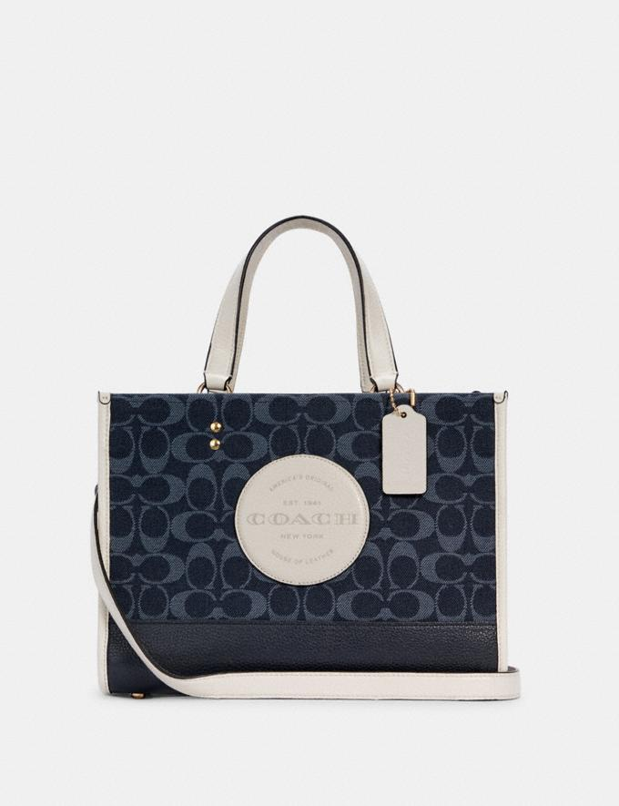 Coach Dempsey Carryall in Signature Jacquard With Patch Im/Denim Multi DEFAULT_CATEGORY