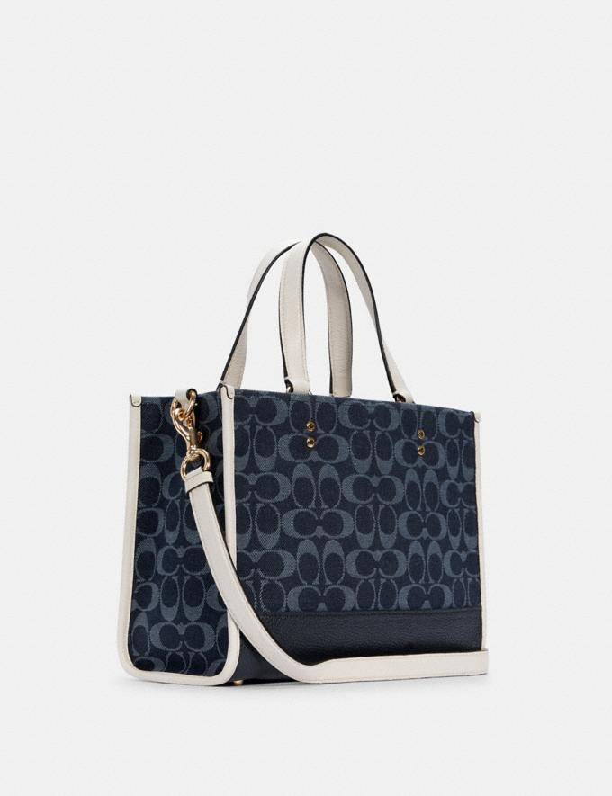 Coach Dempsey Carryall in Signature Jacquard With Patch Im/Denim Multi DEFAULT_CATEGORY Alternate View 1