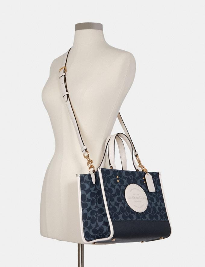 Coach Dempsey Carryall in Signature Jacquard With Patch Im/Denim Multi DEFAULT_CATEGORY Alternate View 3